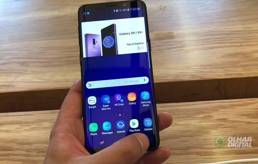 38e315dd4 O Galaxy S9 é a grande aposta da Samsung para 2018. O aparelho tem a missão  de repetir o sucesso do S8 e para isso ele conta com algumas novidades ...